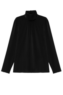 Черная шелковая блузка RED Valentino