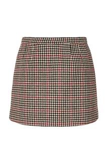 Шерстяная юбка с принтом RED Valentino