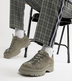 Серые замшевые ботинки в спортивном стиле на массивной подошве ASOS DESIGN - Серый