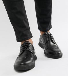 Черные броги-криперы из искусственной кожи ASOS DESIGN - Черный