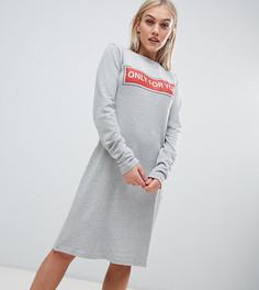 Платье-футболка с принтом Kubban Petite - Серый