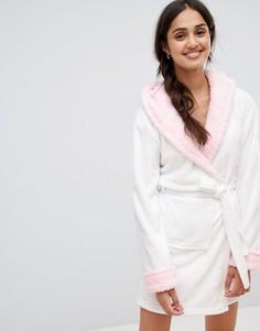 Халат с капюшоном и 3D-отделкой в виде единорога Loungeable - Розовый