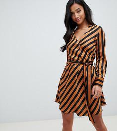 Короткое приталенное платье в полоску Y.A.S Petite - Мульти