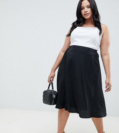 Черная расклешенная юбка AX Paris Plus - Черный