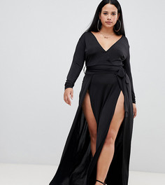 Черное платье макси Missguided Plus - Черный
