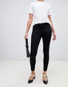 Черные супероблегающие джинсы с классической талией River Island Amelie - Черный