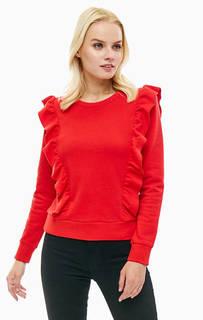 Красный свитшот из хлопка с рюшами Levis®