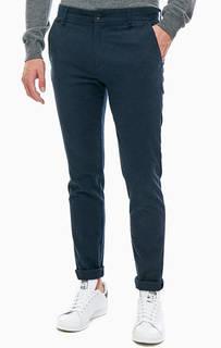 Зауженные синие брюки из хлопка Guess