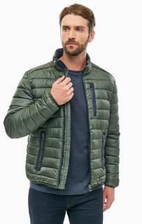 Куртка цвета хаки с воротником-стойкой Lerros