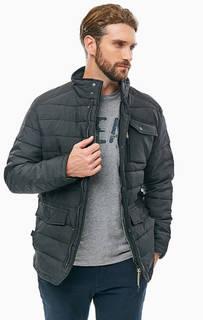 Демисезонная черная куртка с карманами Lerros