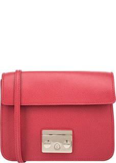 Кожаная основа сумки красного цвета Metropolis Furla