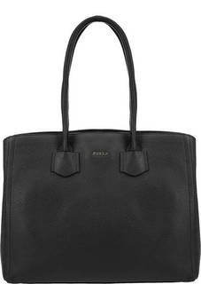 Вместительная кожаная сумка с длинными ручками Alba Furla
