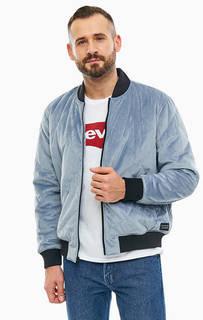 Синяя бархатная куртка-бомбер с застежкой на молнию Levis®