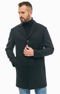 Черное демисезонное пальто с застежкой на пуговицы Sisley