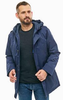 Демисезонная куртка синего цвета с капюшоном Luhta