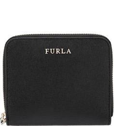 Кожаный кошелек черного цвета Babylon Furla