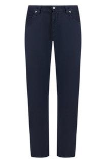 Однотонные джинсы прямого кроя Giorgio Armani