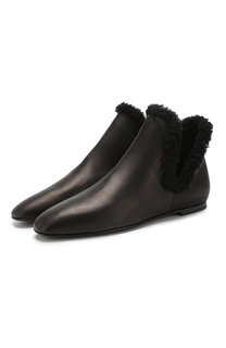 Кожаные ботинки Eros с отделкой из овчины The Row