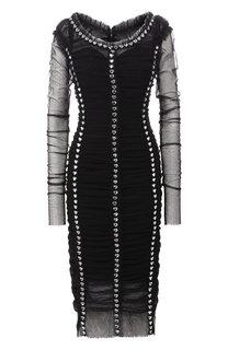 Платье-миди с декоративной отделкой Dolce & Gabbana