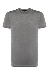 Шелковая футболка с круглым вырезом Ermenegildo Zegna