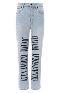 Укороченные джинсы с логотипом бренда Denim X Alexander Wang