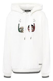 Хлопковый пуловер с капюшоном Dolce & Gabbana