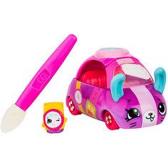 """Машинка меняющая цвет Moose """"Cutie Car"""" Часы на колёсах, с кисточкой"""