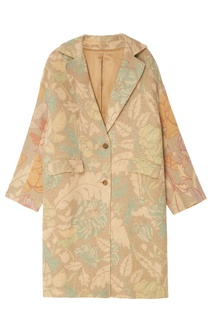 Пальто оверсайз с цветочным узором Acne Studios