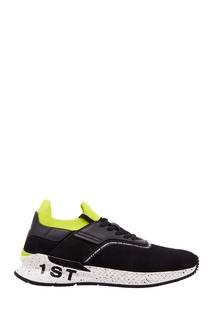 Черные кроссовки с неоновыми вставками 1st Vfts
