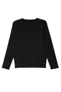 Черный свитер с контрастной отделкой Adolfo Dominguez