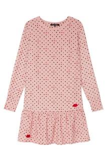 Розовое платье с принтом Terekhov Girl