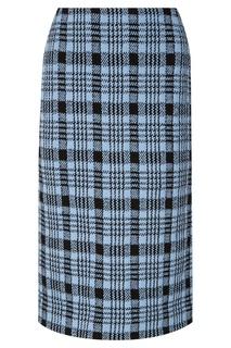 Голубая юбка в клетку Dries Van Noten