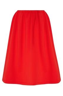 Красная хлопковая юбка Marni