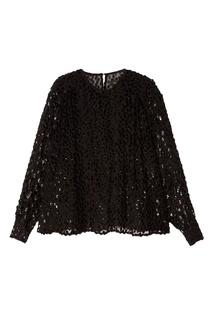 Черная блузка с пайетками Isabel Marant