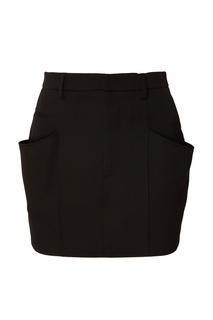 Черная шерстяная мини-юбка Isabel Marant