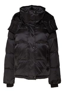 Черная стеганая куртка Mo&Co