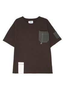 Черная футболка с карманами C2 H4