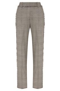 Серые брюки с рельефной отделкой Msgm