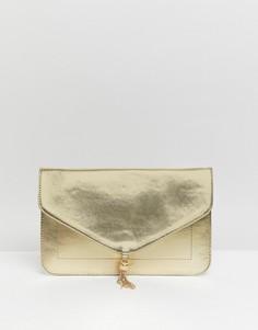 Клатч с кисточками ASOS DESIGN - Золотой