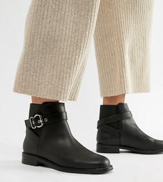 Ботинки для широкой стопы с пряжкой ASOS DESIGN Abena - Черный