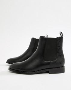 Черные ботильоны с заклепками Head Over Heels by Dune Petunia - Черный