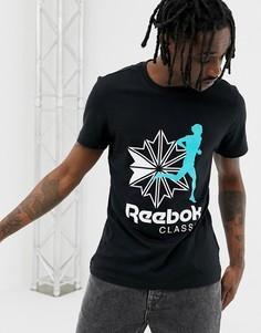 Черная футболка с логотипом Reebok DX0139 - Черный