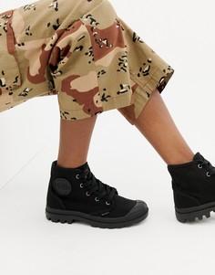 Черные высокие ботинки на шнуровке Palladium Pampa - Черный