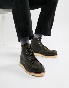 Темно-серые кожаные классические ботинки высотой 6 дюймов со строчкой на носке Red Wing - Черный