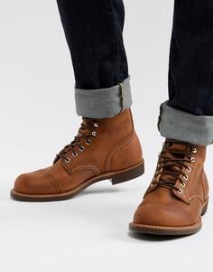 Кожаные ботинки медного цвета со шнуровкой Red Wing Iron Ranger - Коричневый