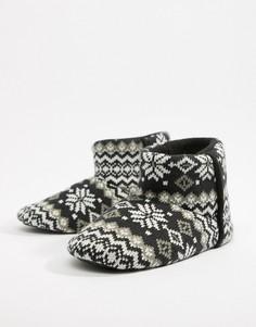 Слиперы-ботинки с узором Фэйр-Айл Dunlop - Черный