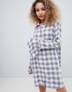 Платье-рубашка в клетку с длинными рукавами En Creme - Мульти