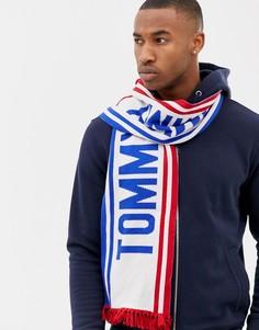 Синий шарф с логотипом Tommy Hilfiger - Синий