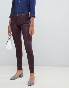 Зауженные джинсы с покрытием Esprit - Красный