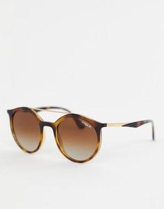 Черепаховые круглые солнцезащитные очки Vogue Eyewear 0VO5242S - Коричневый
